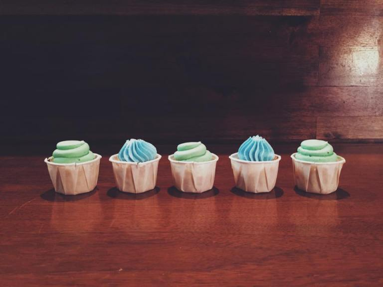 Cupcake Bites| - Vanilla Bean Cupcake Bites - Vanilla Bean Buttercream - Super Why Boy Color Scheme