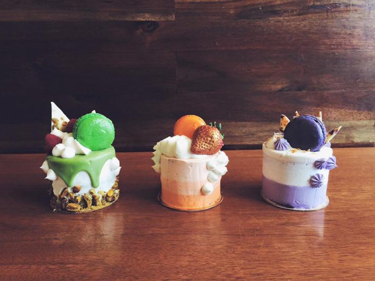 Pre-designed Tiny Cakes - Matcha Love - Thai Tea - Ube